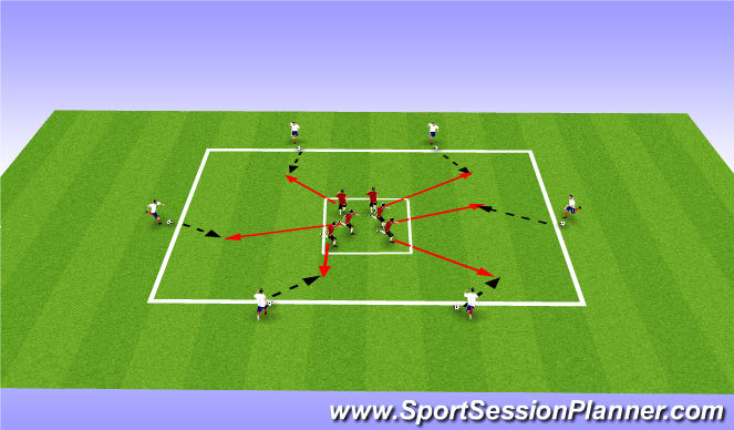 Football/Soccer Session Plan Drill (Colour): Actvity