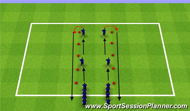 Football/Soccer Session Plan Drill (Colour): FIFA +11