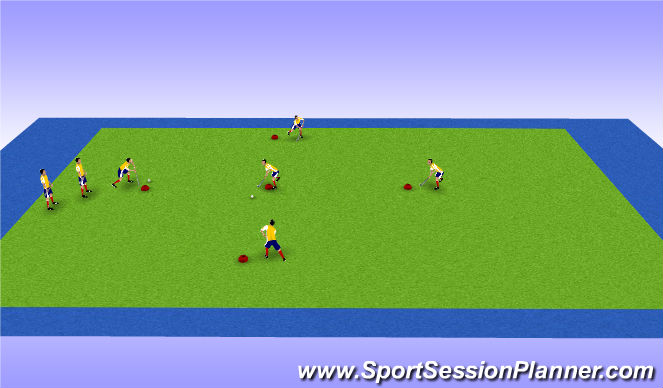 Hockey Session Plan Drill (Colour): Animation 2