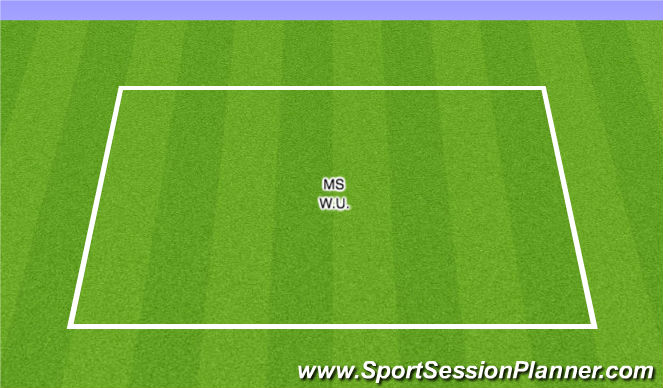 Football/Soccer Session Plan Drill (Colour): W.U. MS