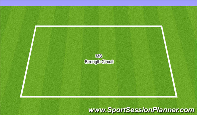 Football/Soccer Session Plan Drill (Colour): MS - Strength Circuit