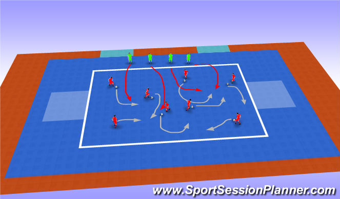 Futsal Session Plan Drill (Colour): King of the Court