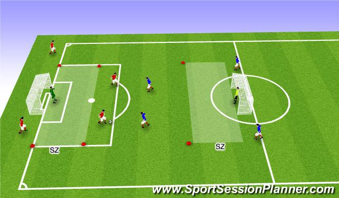 Football/Soccer Session Plan Drill (Colour): 2 v 2 Game