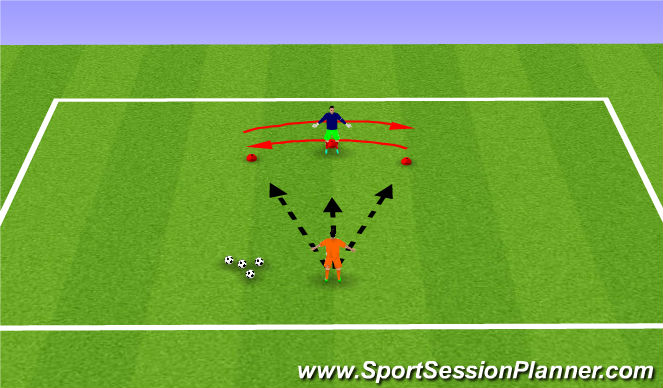 Football/Soccer Session Plan Drill (Colour): Lets move