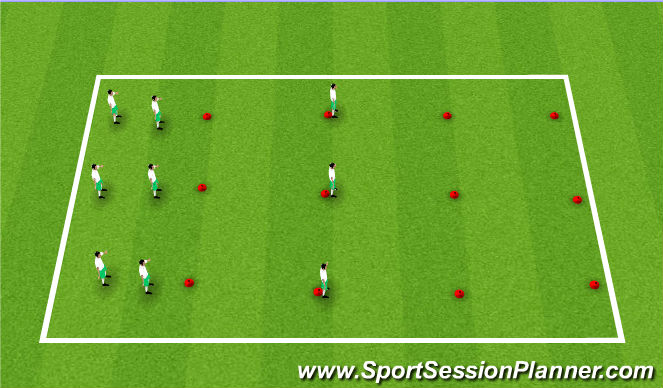 Football/Soccer Session Plan Drill (Colour): Aqucimento