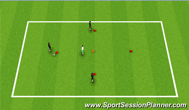 Football/Soccer Session Plan Drill (Colour): Passe