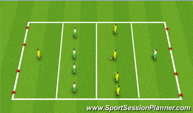 Football/Soccer Session Plan Drill (Colour): Procuras