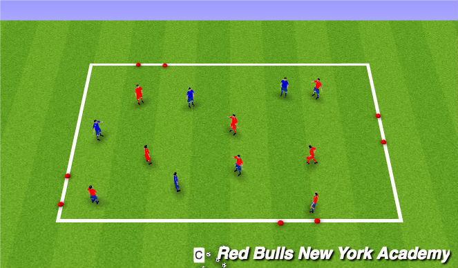 Football/Soccer Session Plan Drill (Colour): Mourinho box