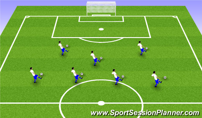 Football/Soccer Session Plan Drill (Colour): Arrval activity