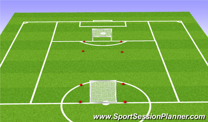 Football/Soccer Session Plan Drill (Colour): N Zone Game