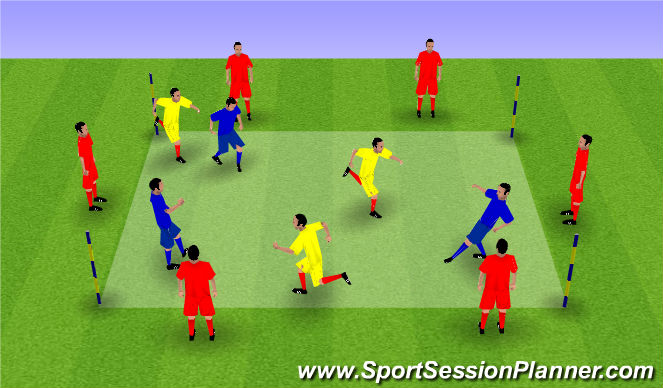 Football/Soccer Session Plan Drill (Colour): dtill two