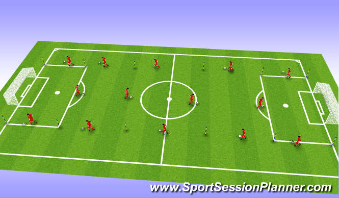 Football/Soccer Session Plan Drill (Colour): Endurance