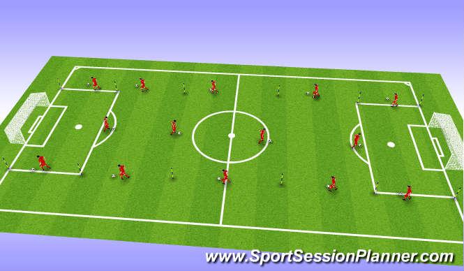 Football/Soccer Session Plan Drill (Colour): Endurance
