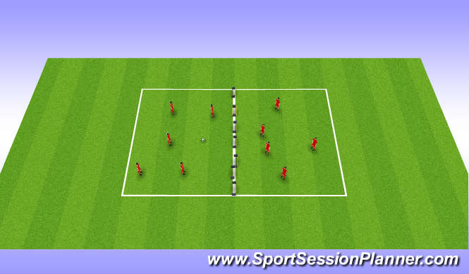 Football/Soccer Session Plan Drill (Colour): Football tennis
