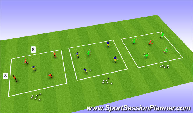 Football/Soccer Session Plan Drill (Colour): Rondo Comp
