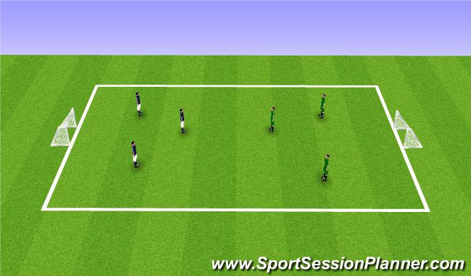 Football/Soccer Session Plan Drill (Colour): 3v3/4v4 Rugby Soccer