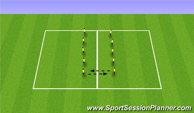 Football/Soccer Session Plan Drill (Colour): Warm up +1