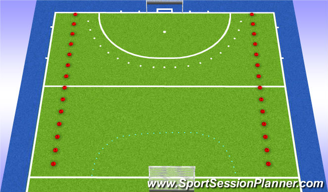 Hockey Session Plan Drill (Colour): Partijvorm