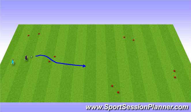 Football/Soccer Session Plan Drill (Colour): Multi-Goal Game