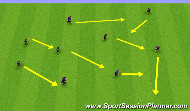 Football/Soccer Session Plan Drill (Colour): Flag-Tag