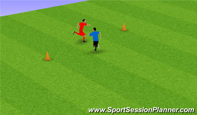 Football/Soccer Session Plan Drill (Colour): Exercise 1: Mirror