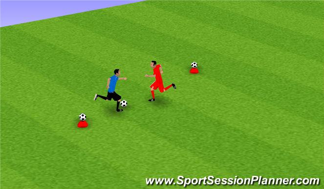 Football/Soccer Session Plan Drill (Colour): 1v1 Games