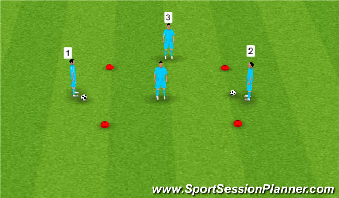 Football/Soccer Session Plan Drill (Colour): 3 out 1 in passing