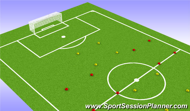 Football/Soccer Session Plan Drill (Colour): Equipment & Layout