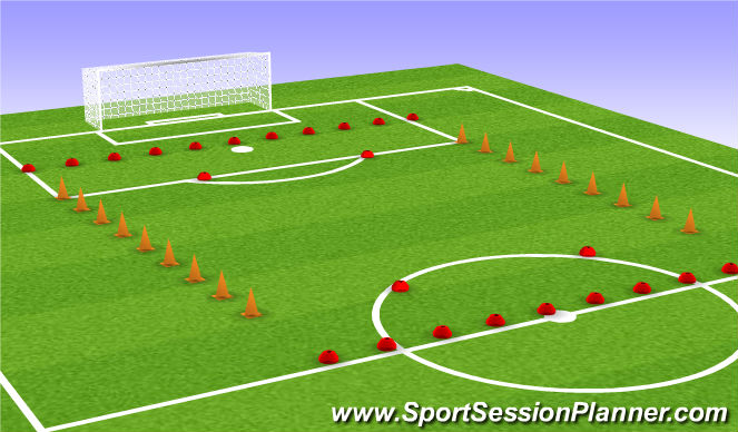 Football/Soccer Session Plan Drill (Colour): SSG-Zones