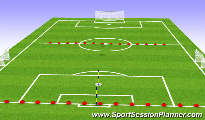 Football/Soccer Session Plan Drill (Colour): SSG-5v5/6v6