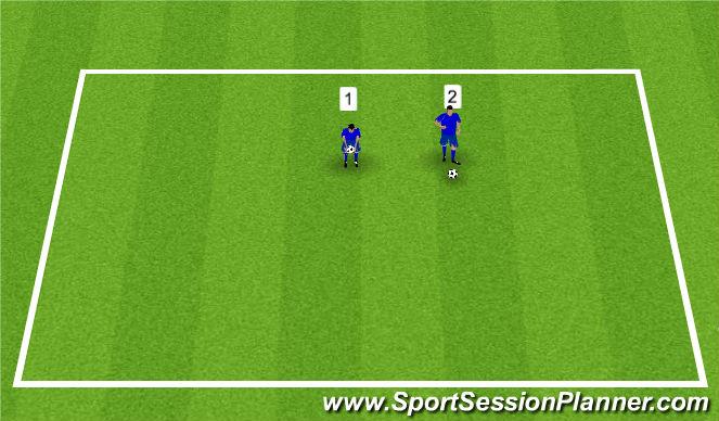 Football/Soccer Session Plan Drill (Colour): Ball Feeling