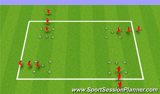 Football/Soccer Session Plan Drill (Colour): Speed (15 mins)