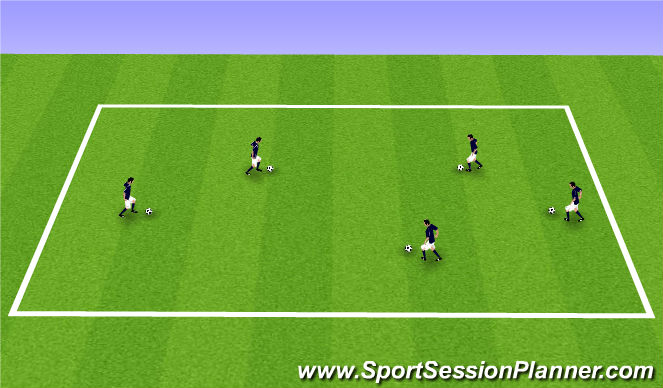 Football/Soccer Session Plan Drill (Colour): Juggling Cool Down