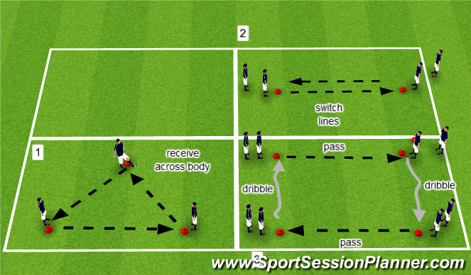 Footballsoccer Week 6 Passing And Receiving U9 U10 Technical