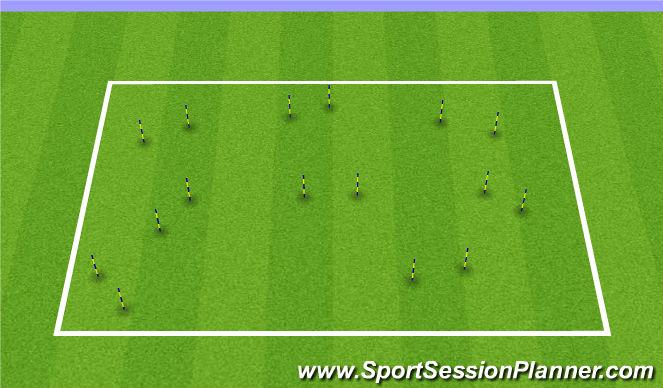 Football/Soccer Session Plan Drill (Colour): Passing Gates 2v1 & 2v2