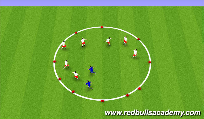 Football/Soccer Session Plan Drill (Colour): Mud monster game