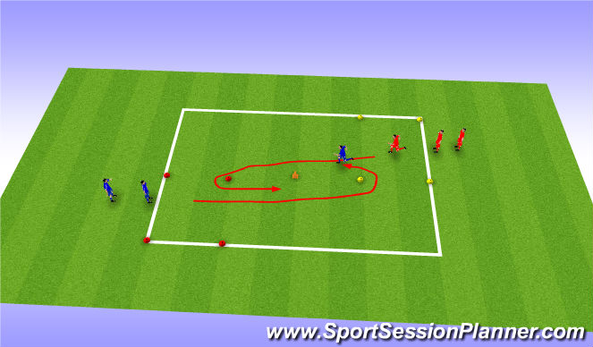 Football/Soccer Session Plan Drill (Colour): speed/passing recieving