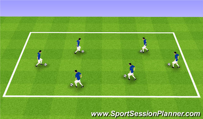 Football/Soccer Session Plan Drill (Colour): U7 - U9 Ball Mastery: Shielding