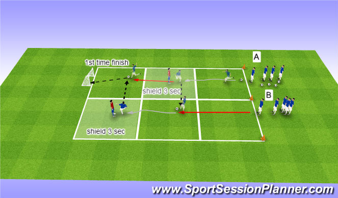 Football/Soccer Session Plan Drill (Colour): U7 - U9 Ball Mastery: Shielding
