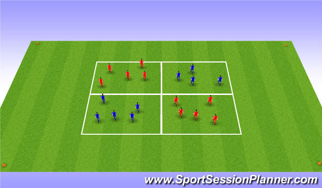 Football/Soccer Session Plan Drill (Colour): Warm up(Technical)