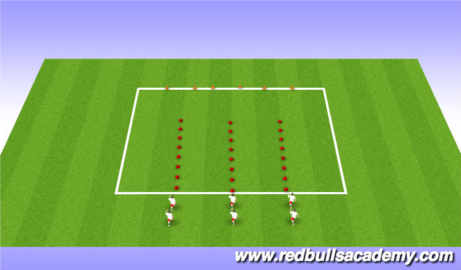 Football/Soccer Session Plan Drill (Colour): Physical Literacy