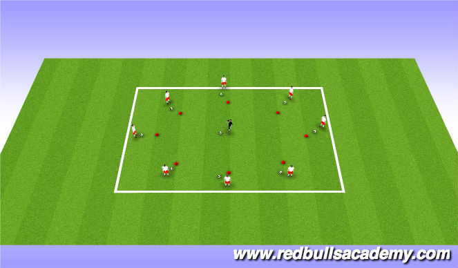 Football/Soccer Session Plan Drill (Colour): Rhythmic