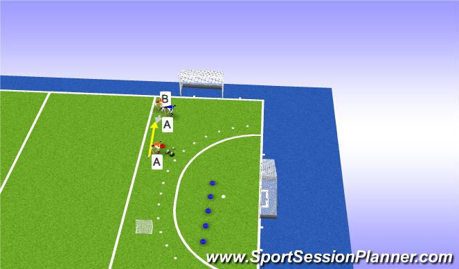 Hockey Session Plan Drill (Colour): Tackle back na balverlies
