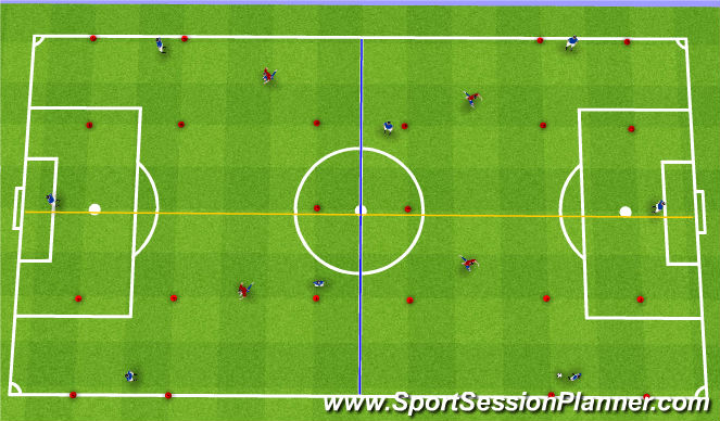 Football/Soccer Session Plan Drill (Colour): SSG Switching the Play