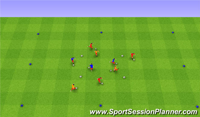 Football/Soccer Session Plan Drill (Colour): Warm Up -Dynamic