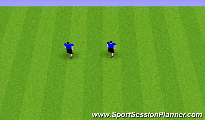 Football/Soccer Session Plan Drill (Colour): tech work