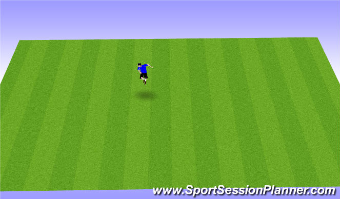 Football/Soccer Session Plan Drill (Colour): aerial ball control