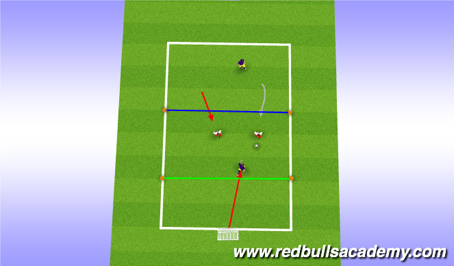 Football/Soccer Session Plan Drill (Colour): Main Theme - Progression 2