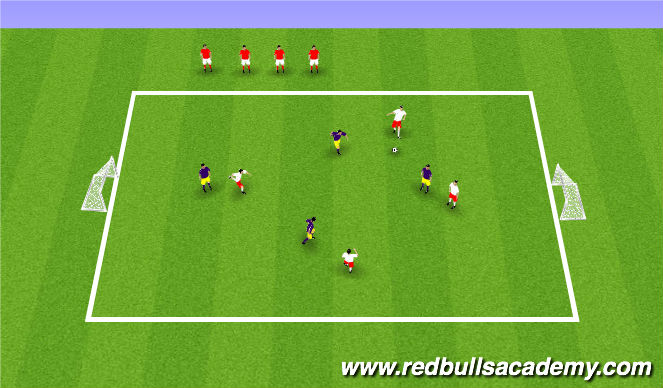 Football/Soccer Session Plan Drill (Colour): Small Sided Tournament - 4v4