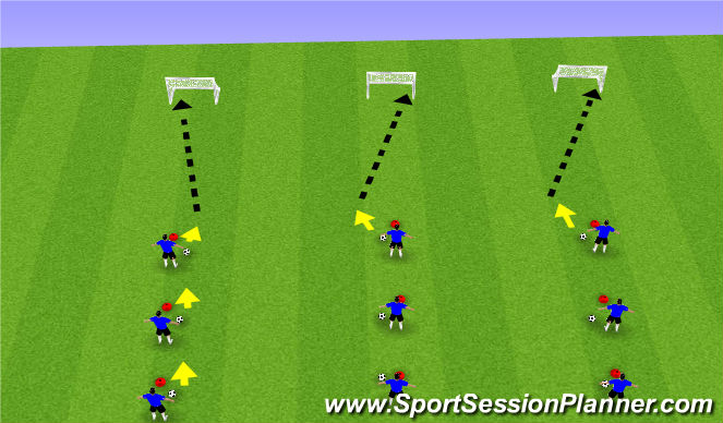 Football/Soccer Session Plan Drill (Colour): Highlight Reel Goals